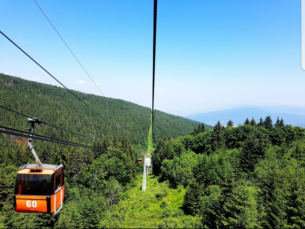 Lift to the Vitosha Mountain